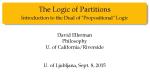 Partition Logic talk slides Ljubljana